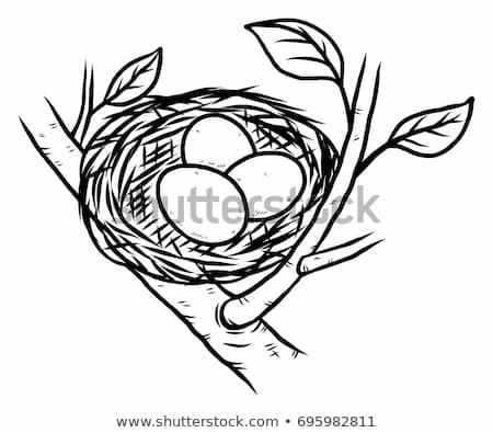 Clipart nest black and white 2 » Clipart Portal.