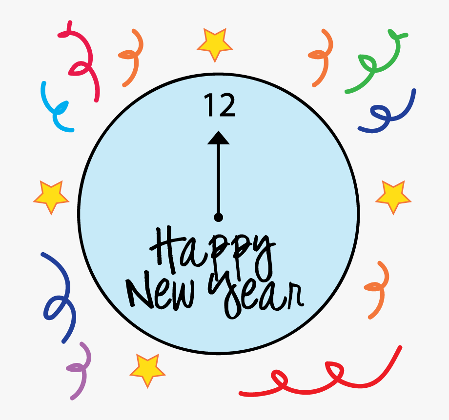 New Years Fireworks Clipart.