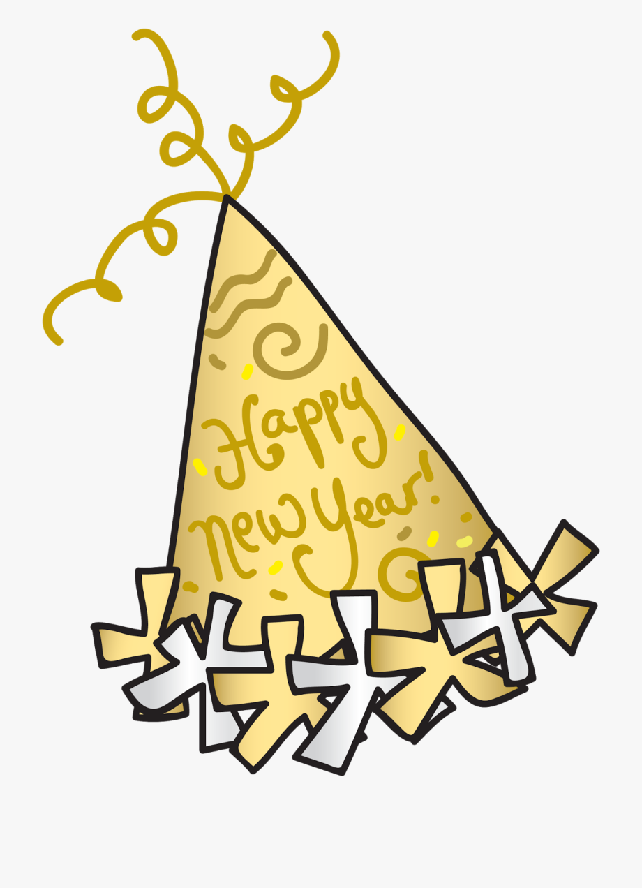 Happy New Year Clipart Party Hat.