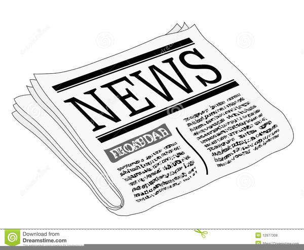 Free Clipart Newspaper Headline.