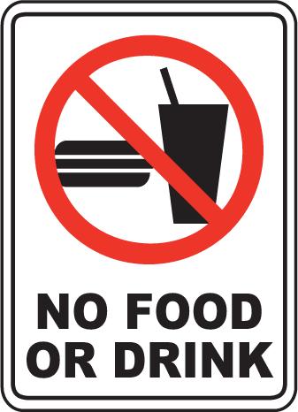 No Food or Drink Sign.