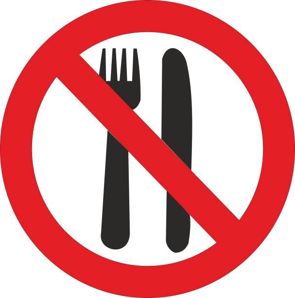 No Food Or Drink Sign Illustrations, Royalty.