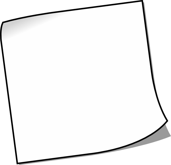 Blank Sticky Note clip art Free vector in Open office drawing svg.