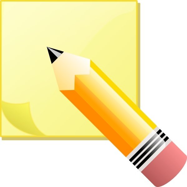 Jeremybennett Sticky Note Pad And Pencil clip art Free vector in.