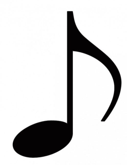 Eighth Note Clip Art.