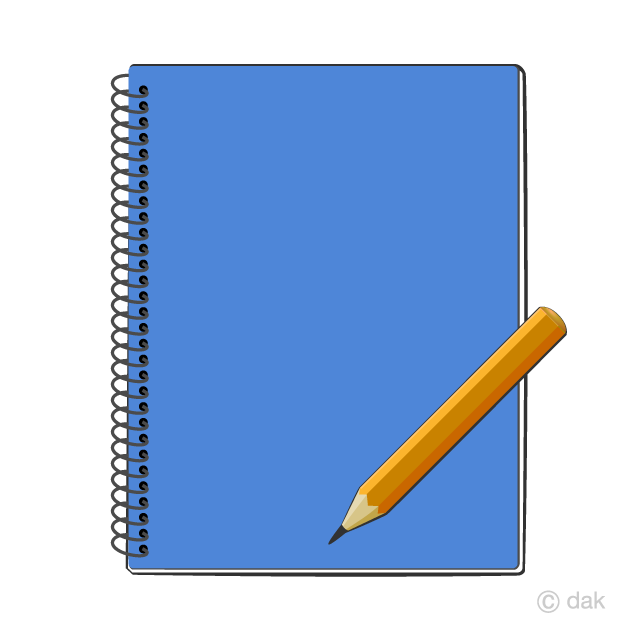 Notebook and Pencil Clipart Free Picture|Illustoon.
