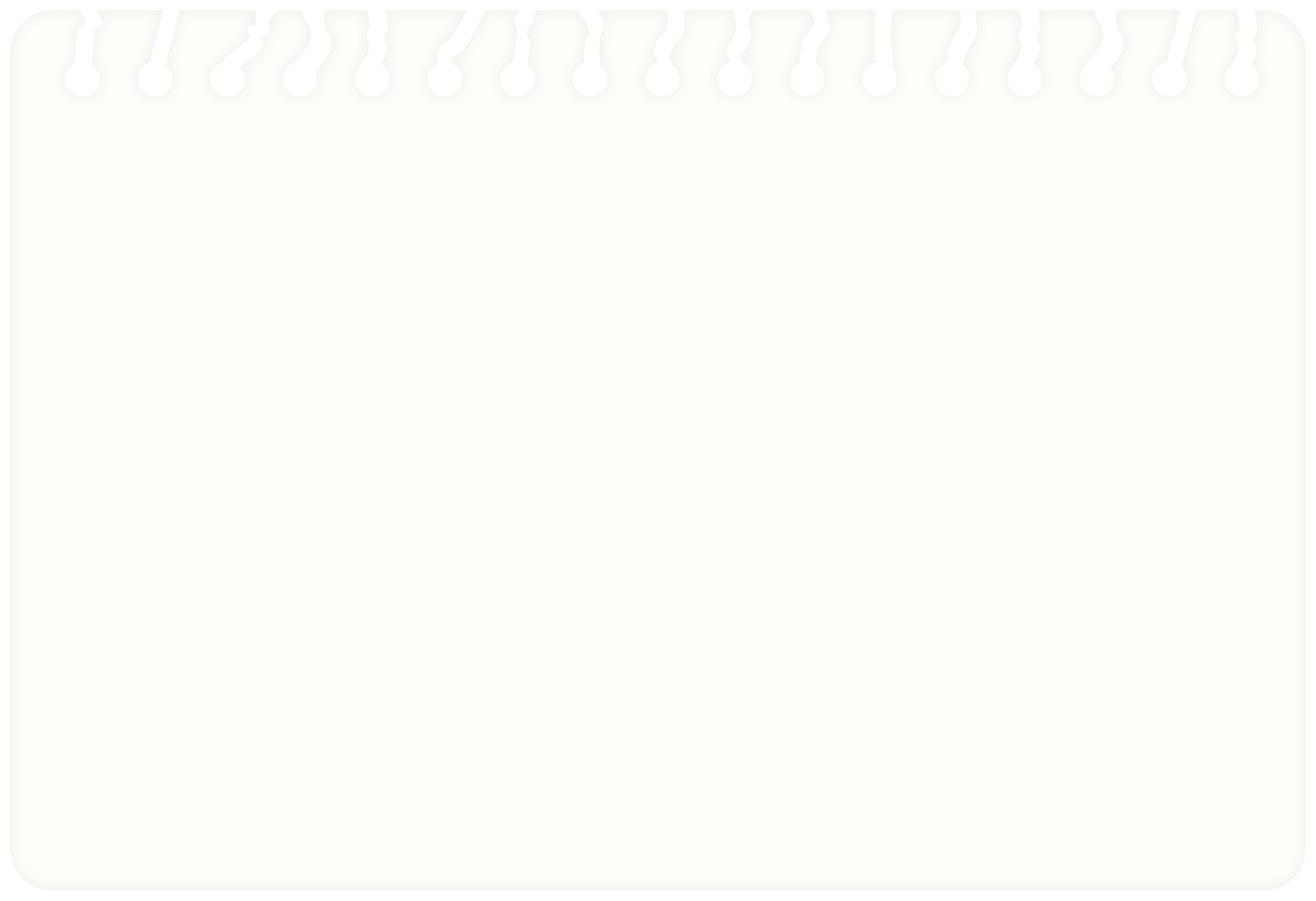 Spiral Notebook Page Clip Art Image.