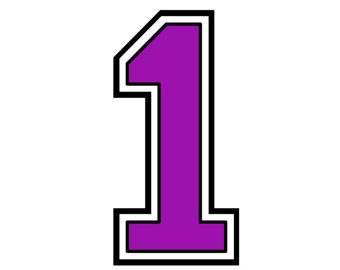 Purple Number 1 Cliparts.