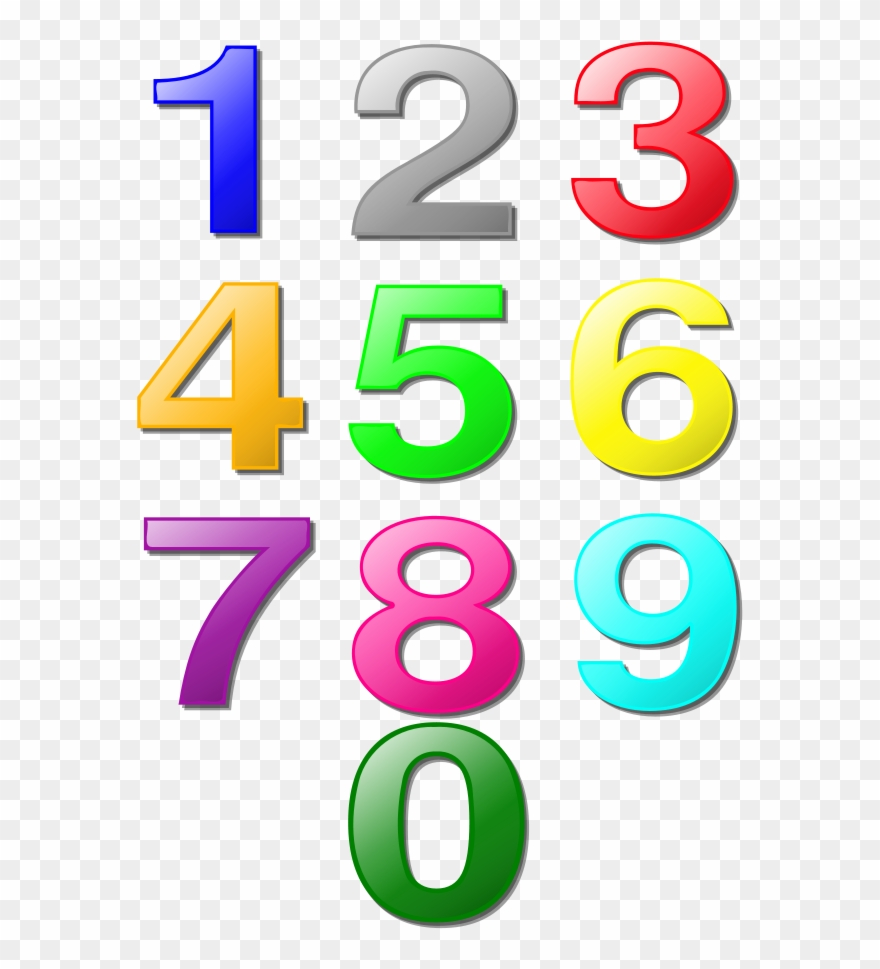Clip Art Numbers 1 12.