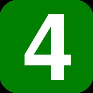 Green Number 4 Clip Art at Clker.com.
