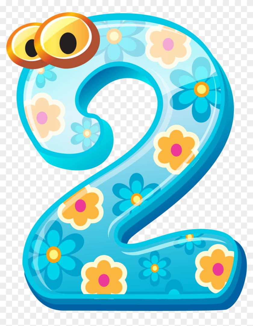 Cute Number Two Png Clipart Image.