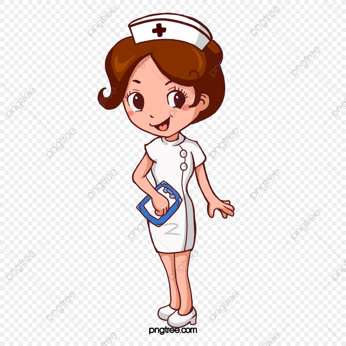 Cartoon Pretty Nurse, Cartoon Clipart, Nurse Clipart, Cartoon PNG.