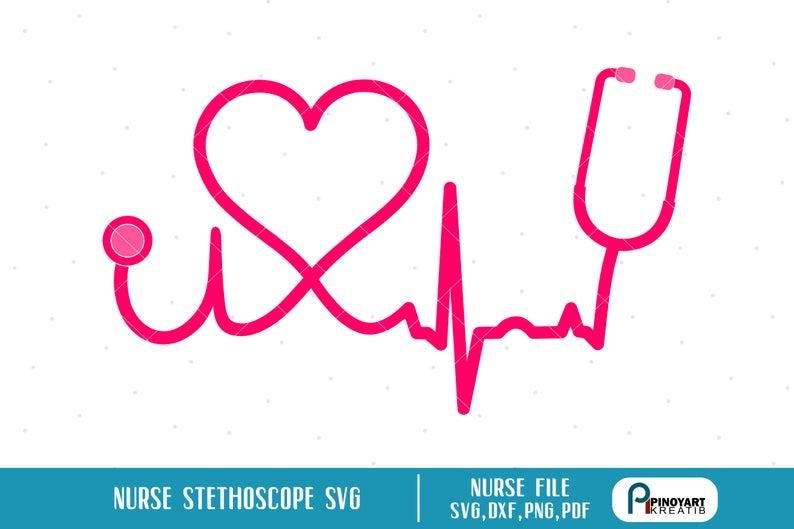 Nurse Svg, Nurse Stethoscope Svg, Heartbeat Svg, Stethoscope Svg, Nursing  Svg, Nurse Clip Art, Nurse Lifeline Svg, Nursing Graphics, Svg,Dxf.