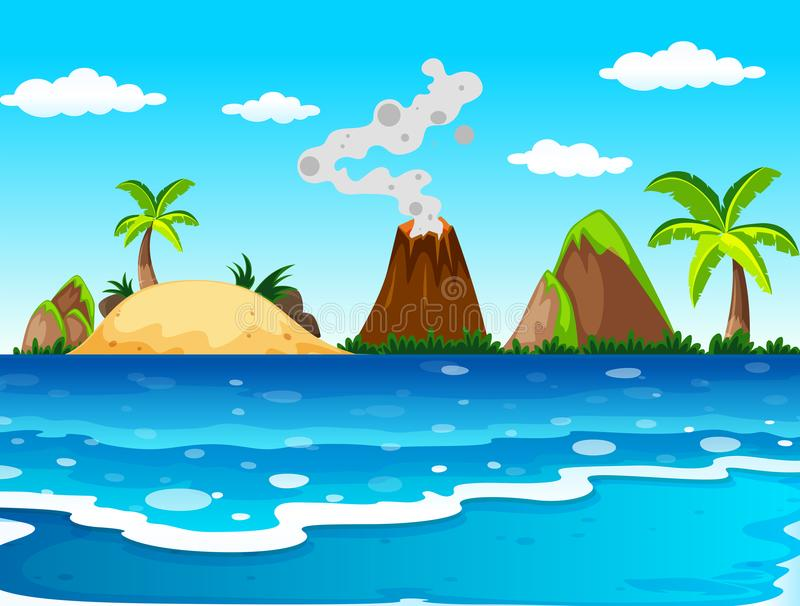 Ocean Scene Stock Illustrations.