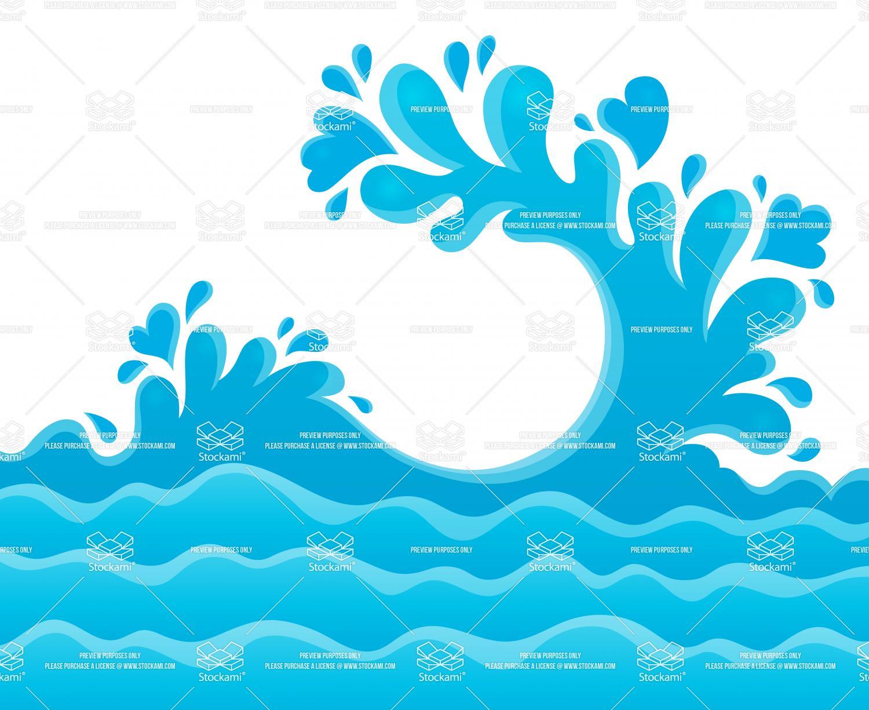 Ocean Water Splash Clip Art free image.