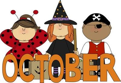 October kids in costume — Alexander Public Library.