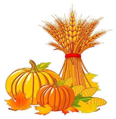 October clip art clipart image.