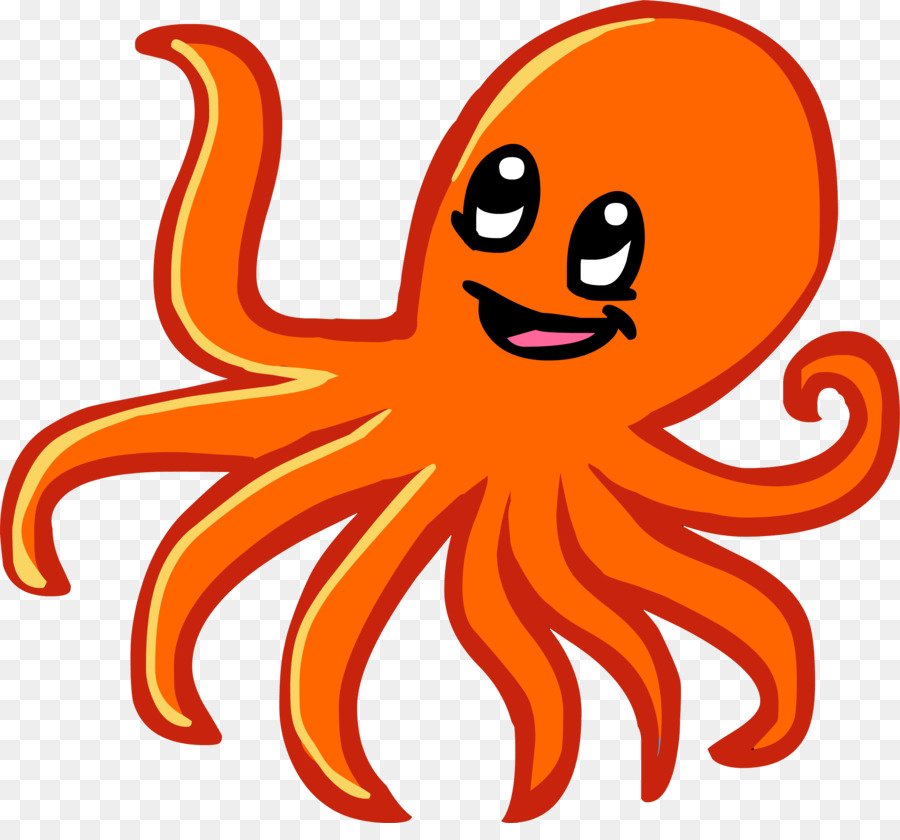 Octopus Cartoon clipart.