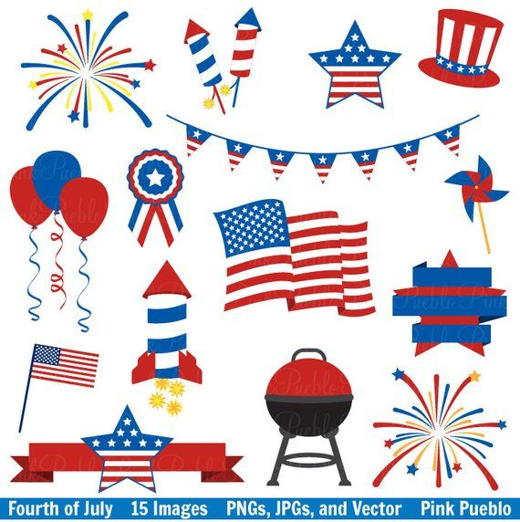 Fourth of July Clip Art Clipart, 4th of July Clip Art Clipart.