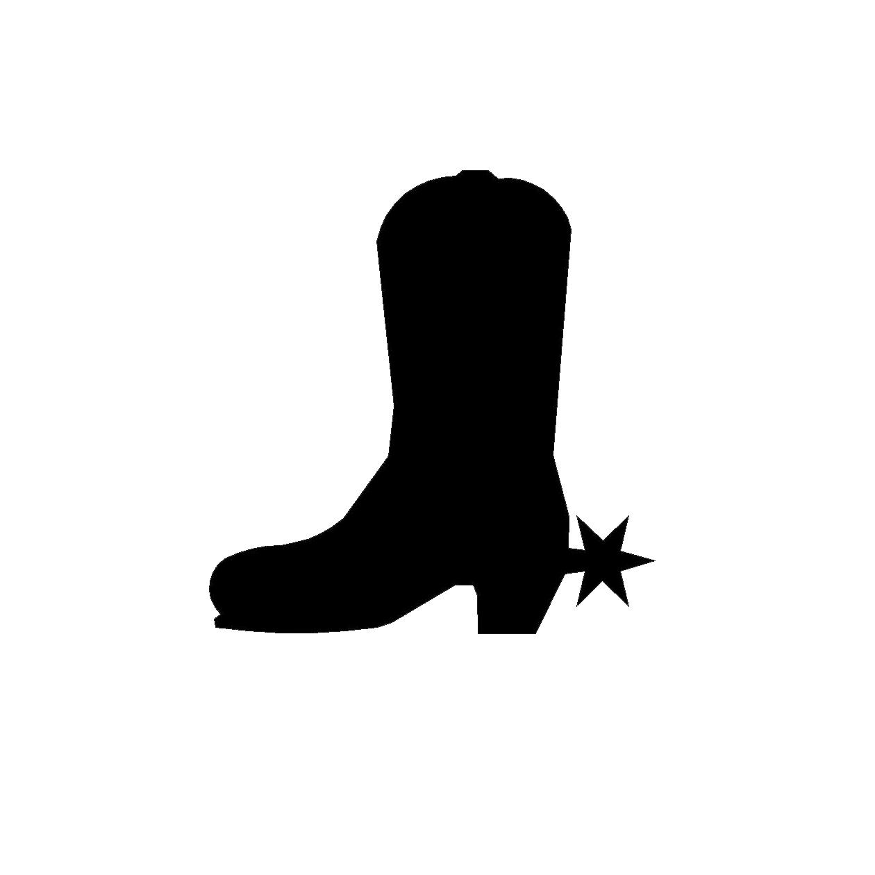 Hd cute cowboy boots clipart boot silhouette clip art image.