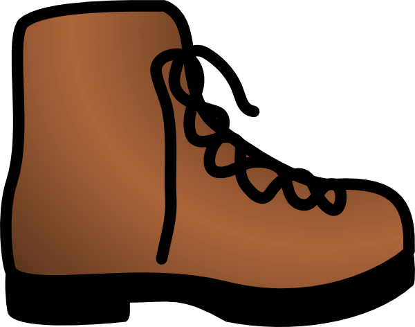 Simple Brown Boot Clip Art at Clker.com.