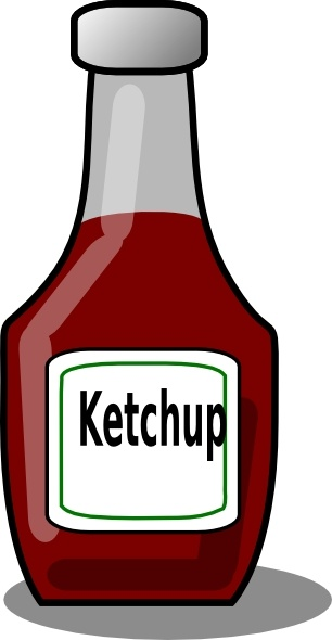 Ketchup Bottle clip art Free vector in Open office drawing svg.