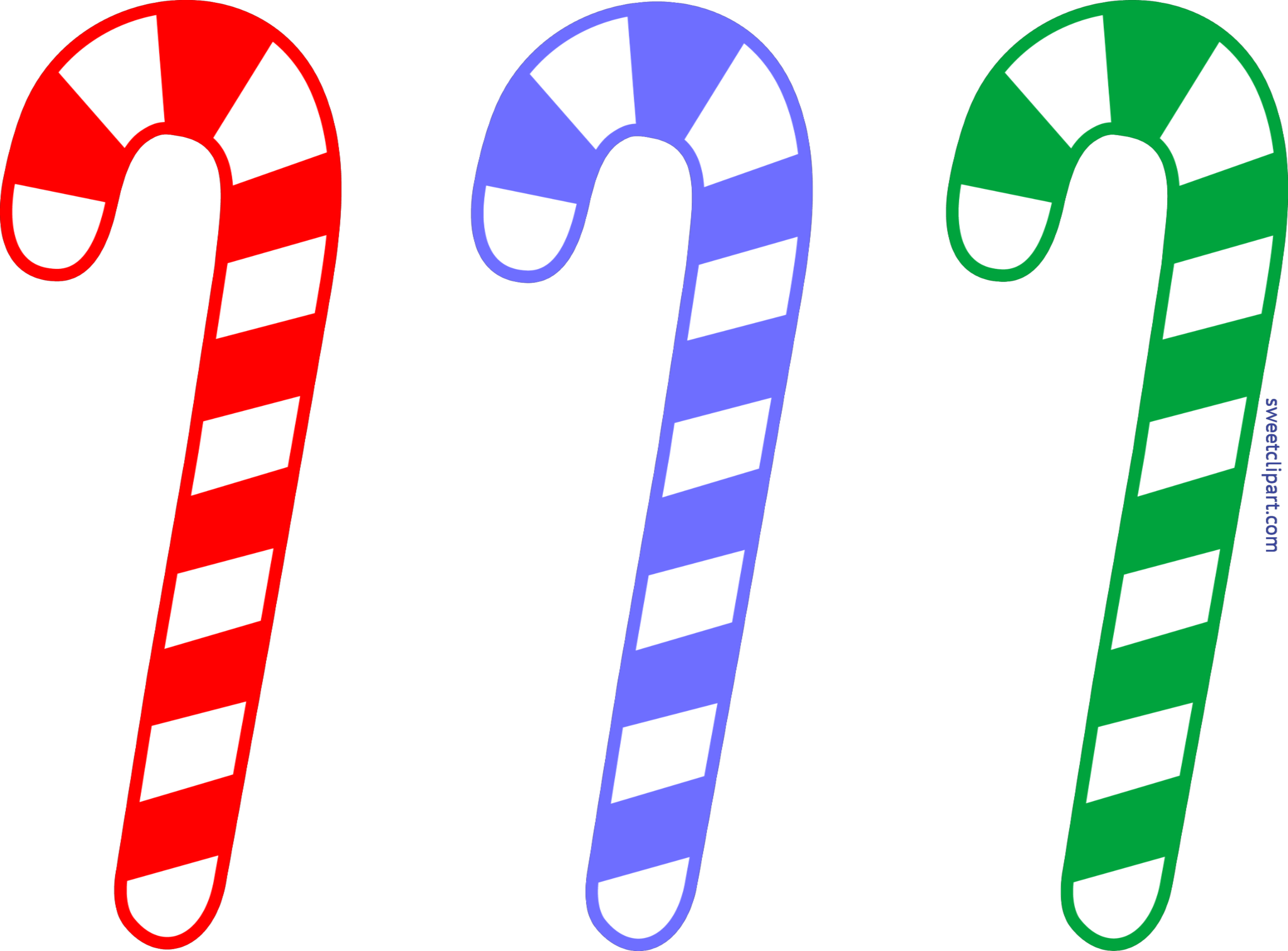 Christmas Candy Cane Set Clip Art.