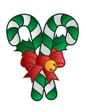 CHRISTMAS CANDY CANES CLIP ART.