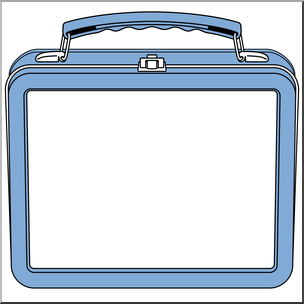 Clip Art: Lunch Box Blue I abcteach.com.