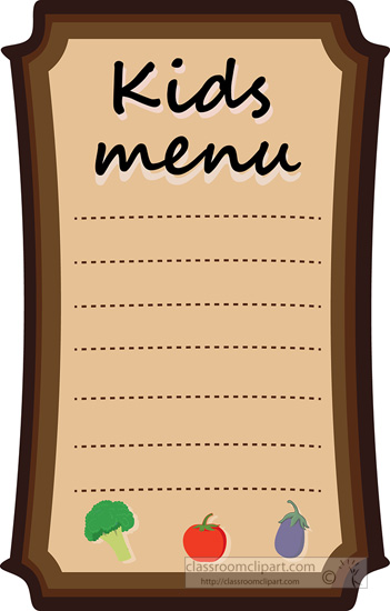 Food menu clipart free clipartfest 2.