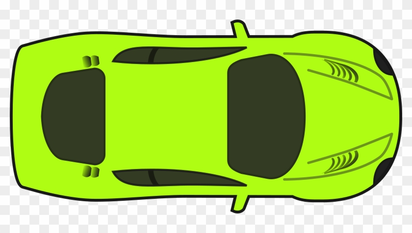 Bright Green Racing Car Svg Stock.