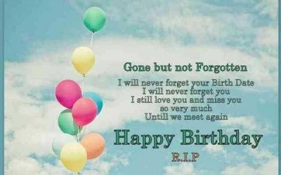 Happy Birthday Quotes and Images to Someone in Heaven.