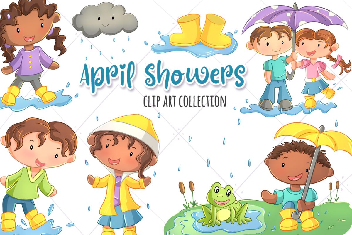 April Showers Clip Art Collection.