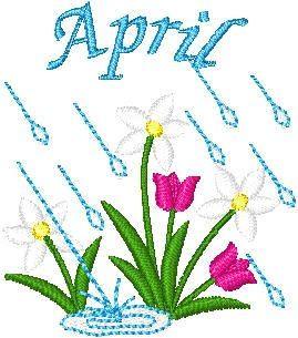 April flowers april showers clipart tumundografico.