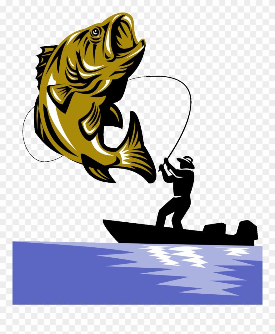 Bass Fishing Fishing Rod Largemouth Bass.