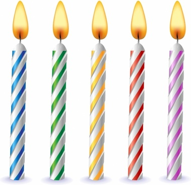 Free Clipart Birthday Candles.