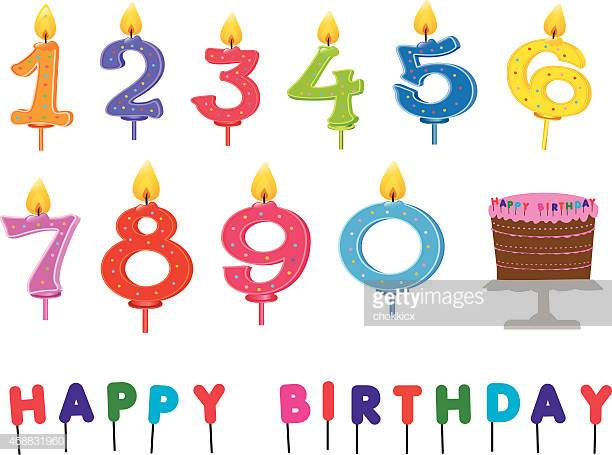60 Top Birthday Candles Stock Illustrations, Clip art, Cartoons.