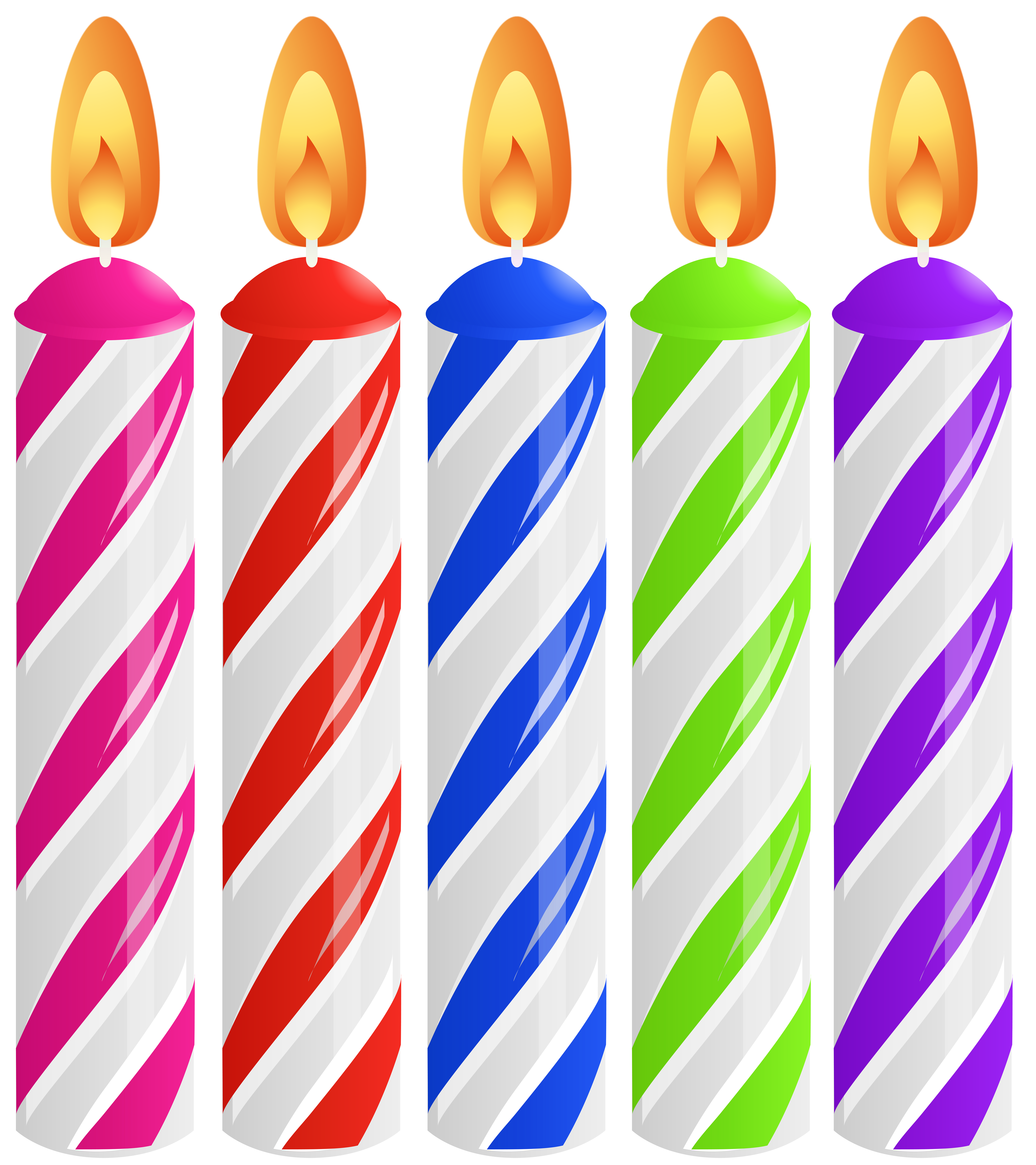Birthday Cake Candles PNG Clip Art Image.