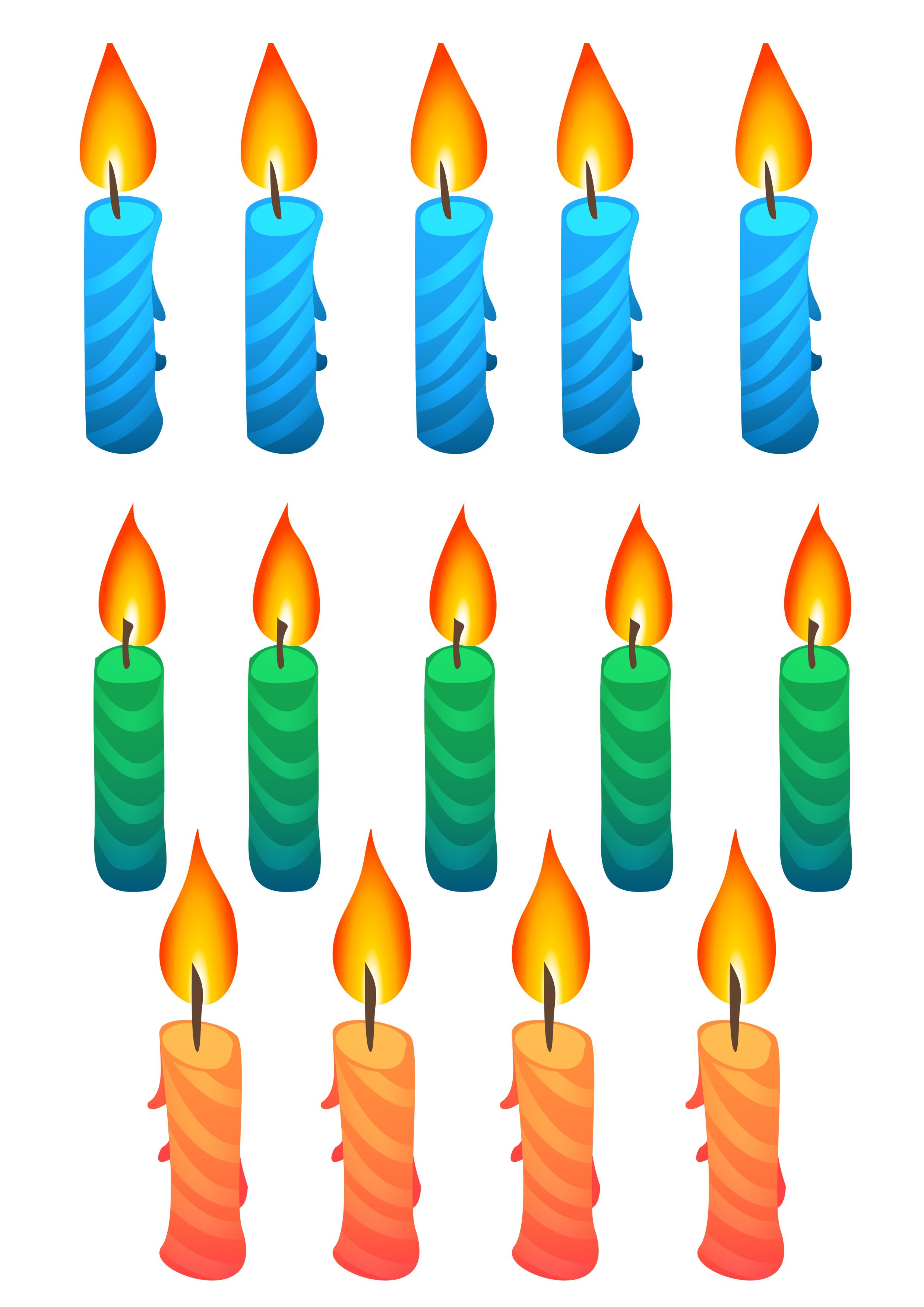 Elegant Birthday Candle Clipart P N G Transparent Free Image Only 01.