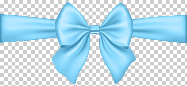 Stock illustration Ribbon, Bow Soft Blue Transparent , blue ribbon.