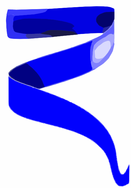 Blue Ribbon Banner Clipart.