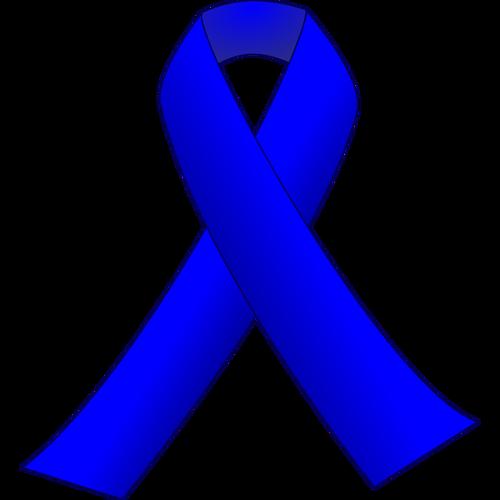 Blue ribbon vector clip art.