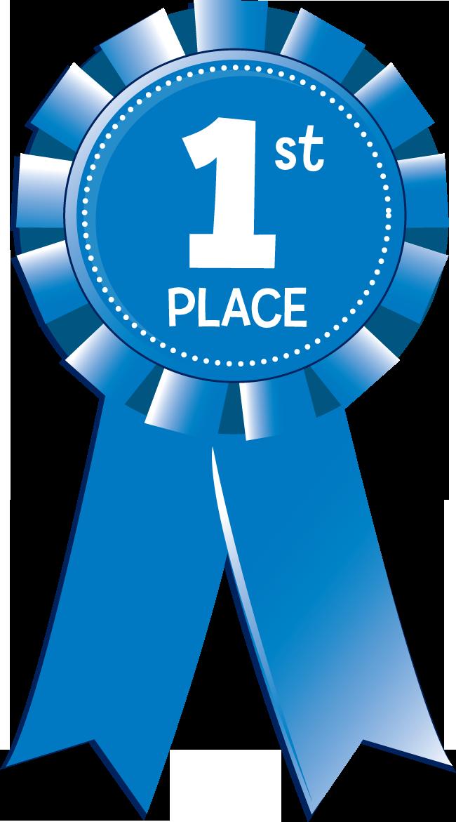 1st Place Blue Ribbon Clip Art N4 free image.