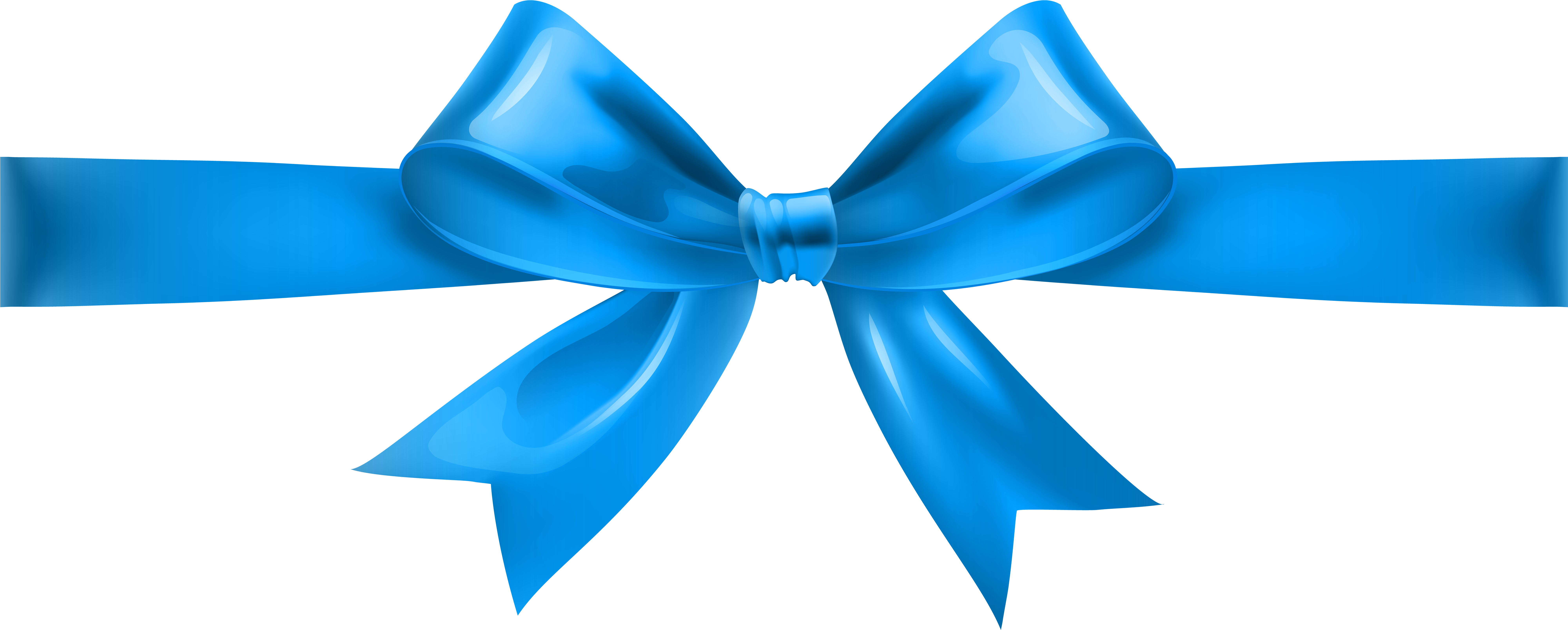HD Blue Christmas Bow Png.