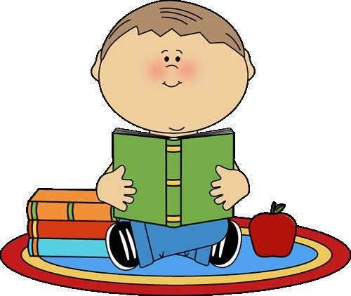 boy reading clipart.
