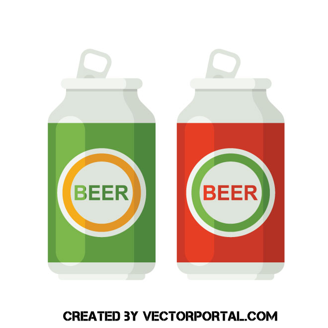 Beer cans clip art.