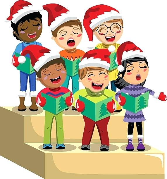 Carolers Clipart Stylish Decoration Carols Clip Art Royalty Vintage.