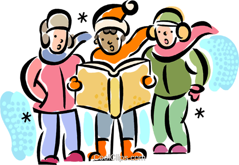 Christmas Carollers Carolers Royalty Free Vector Clip Art.