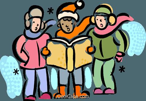 Christmas Carollers Carolers Royalty Free Vector Clip Art.