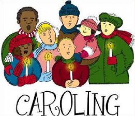 Caroling clipart.